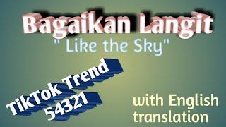 Bagaikan Langit with English translation | song lyrics| Bagaikan Langit Di Sore Hari