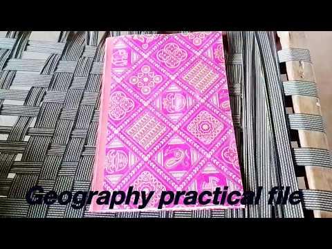 Geography practical file - mlsu Udaipur Rajasthan