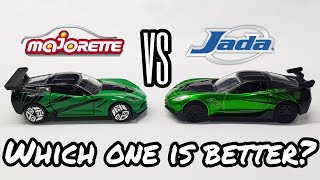 MAJORETTE VS JADA - Chevrolet Corvette Manufacturer Comparison