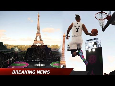 PARIS PRO-AM GAMEPLAY!! NBA Live 19 Exclusive Paris Court footage and Gameplay!!