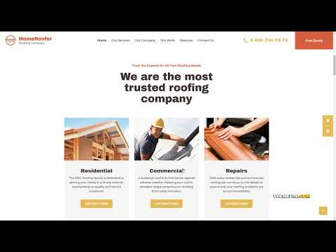HomeRoofer Roofing Company Services amp Construction WordPress Theme thumbnail