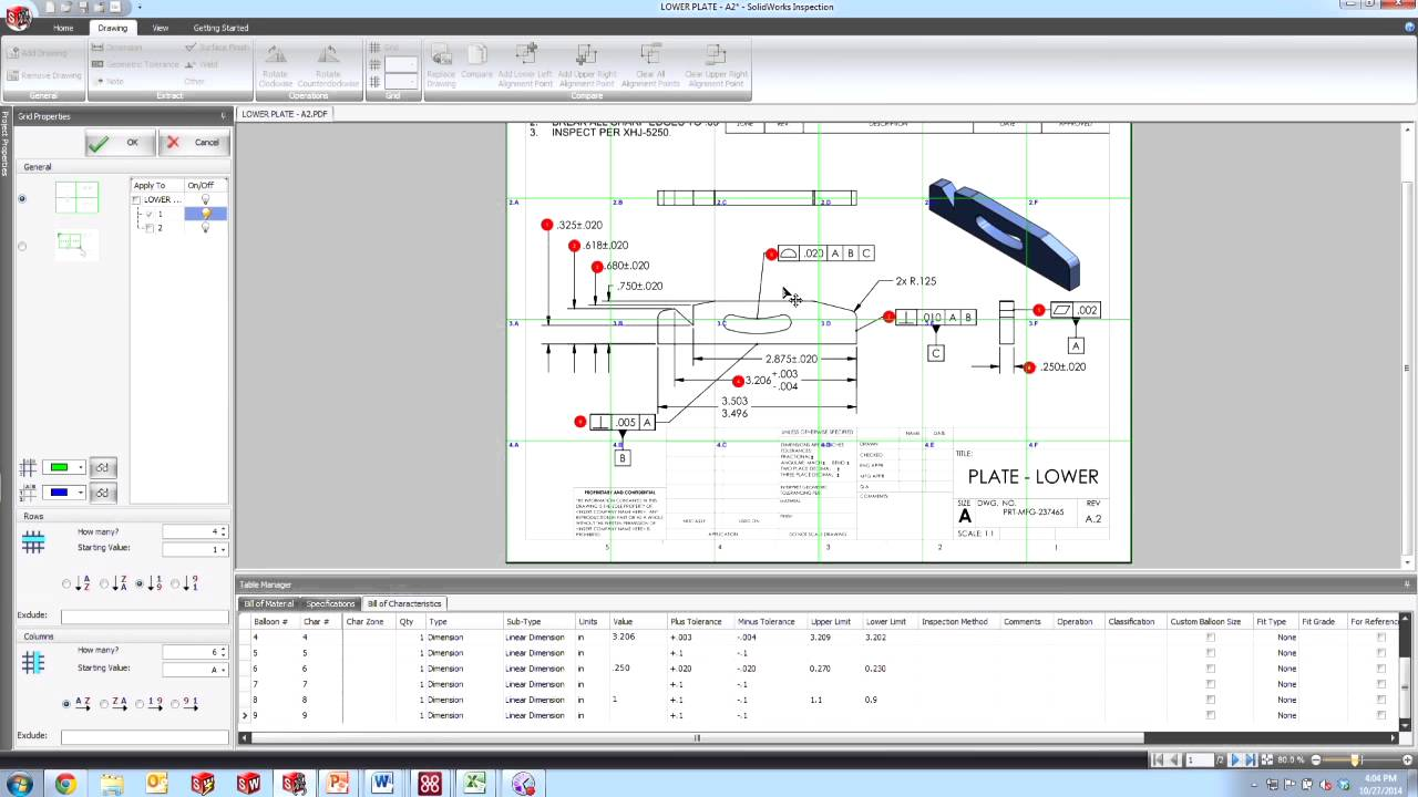 how to create a grid in solidworks
