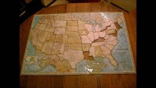 Large Homemade Puzzle Of The United States