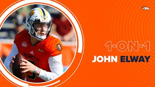 Senior Bowl gave Broncos head start on Drew Lock | John Elway 1-on-1 with Steve Atwater