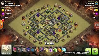CV9 ATAQUES DE GUERRA 3 ESTRELAS COM BRUXAS! Clash Of Clans