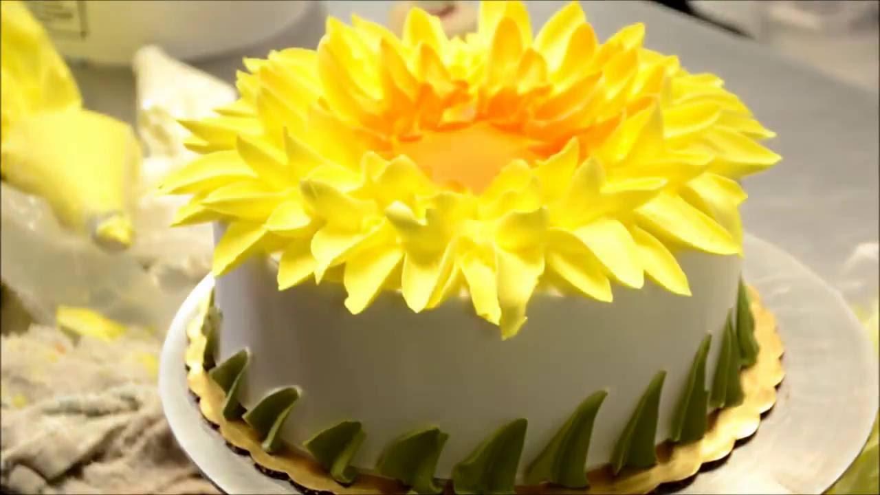Украшение тортов | Как украсить торт в стиле подсолнуха ...