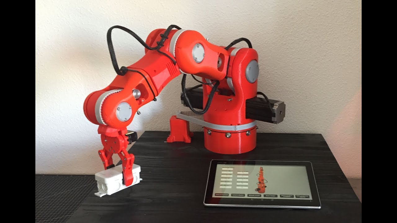DIY 3D Printed Robotic Arm controlled by Arduino and Android bluetooth app