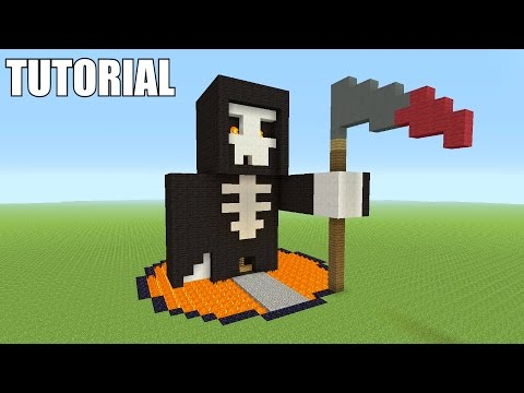 Minecraft Tutorial: How To Make A GRIM REAPER!! (Survival House)