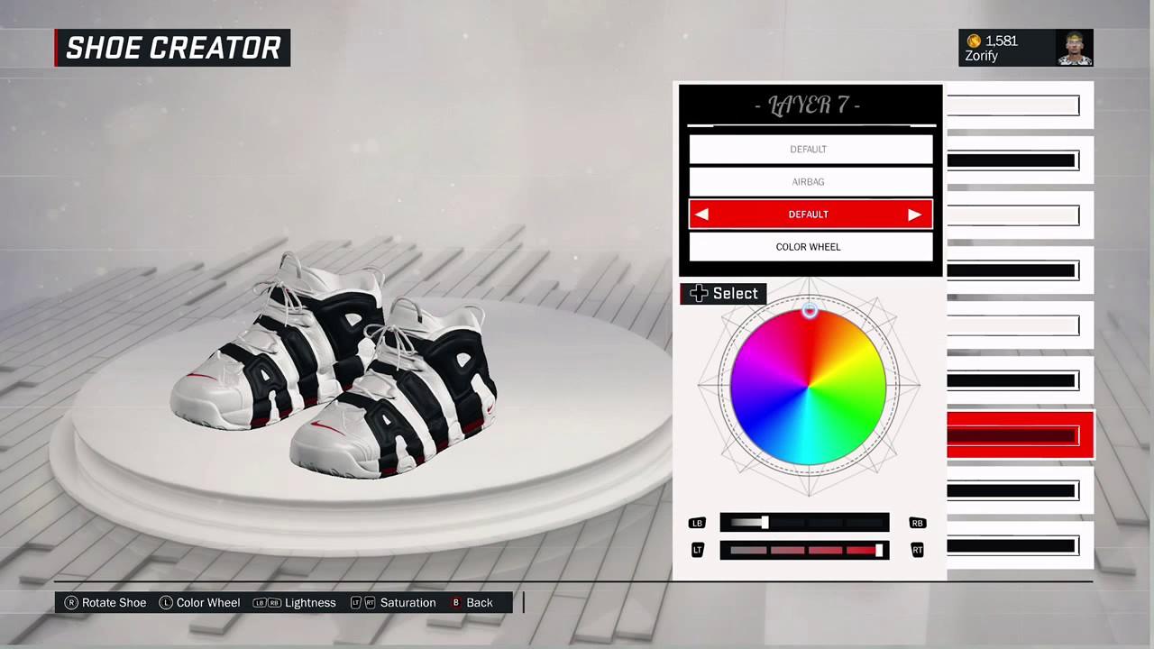 NBA 2K17 Shoe Creator - Nike Air More Uptempo
