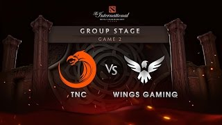 TNC vs Wings - Game 2 - The International 6 : Group Stage