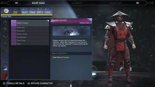Injustice 2 - Raiden  All Unlockable Abilities