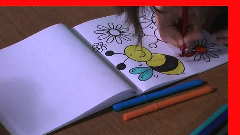 How to color a picture tutorial for kids  YouTube