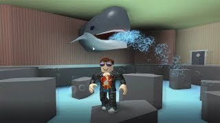 ROBLOX: RUNNING FROM the FISH STORE. THE OLD MAN WAS SWALLOWED BY THE SHARK?!