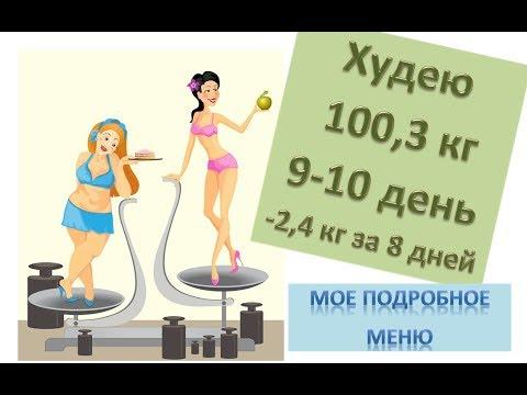 ПП меню на 2 дня для похудения. Худею с веса 102.7 кг (-2,4 кг за 8 дней). Как похудеть