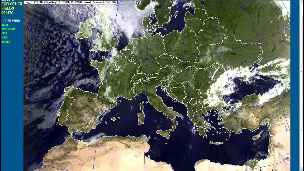 Europe Satellite View From Th To Th July YouTube - Europe satellite map