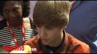 JUSTIN BIEBER Interview at 4th Annual Power of Youth Event