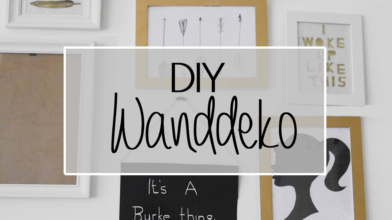 Diy Wanddeko Diy I Wanddekoration In Gold Youtube
