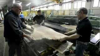 Slicing Burly Bubinga Veneer ~ Hearne Hardwoods Inc.