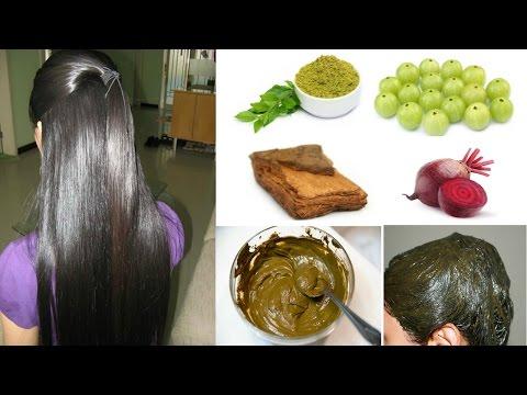 हिना हेयर पैक - लंबे, काले और घने बालों के लिए || Henna/ Mehndi Hair Pack For Hair Growth in Hindi