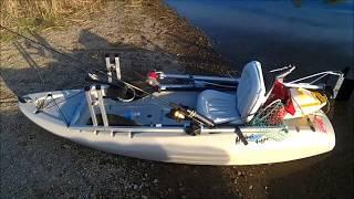 PedalProp on small SOT kayak