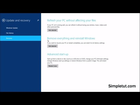 How to Format Your Computer –Windows 8, Windows 8.1 and Windows 10