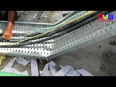 cable laying  and cable dressing in cable tray part 2