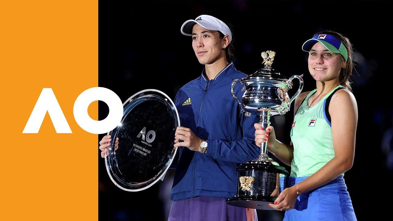 Sofia Kenin vs Garbine Muguruza - Women's Final Trophy Ceremony | Australian Open 2020