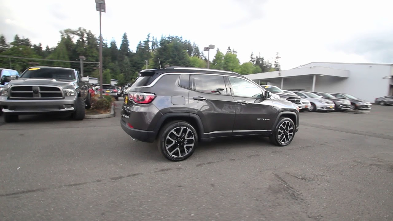 2018 jeep compass limited 4x4 granite crystal metallic jt122434 redmond seattle youtube. Black Bedroom Furniture Sets. Home Design Ideas