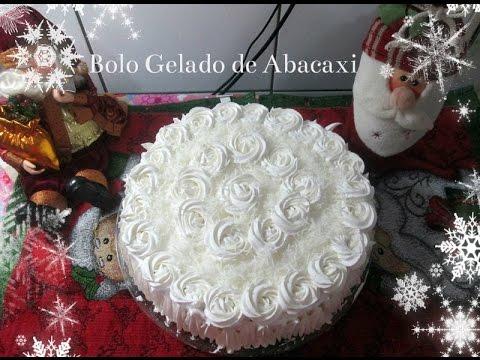 🎂🍰Bolo Gelado de Abacaxi Montagem & Decoração com Déby & Ian🎂🍰