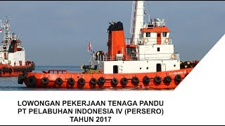 Lowongan Kerja PT Pelabuhan Indonesia IV (Persero) Tahun 2017
