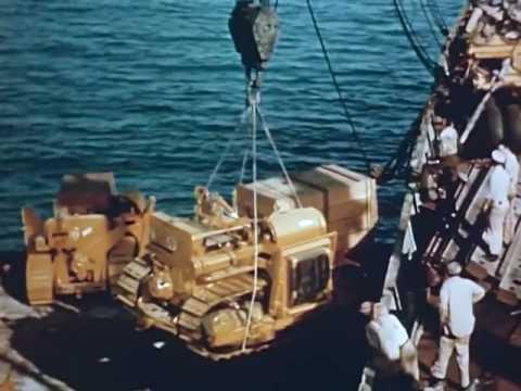 Transarabian Pipeline Construction Oil Across Arabia (1947)