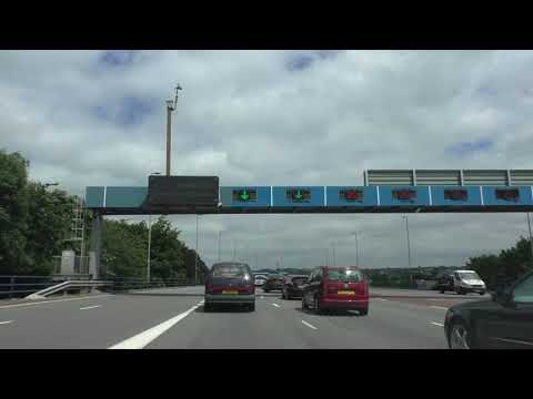 Driving On The A38, A38M & M6 From Birmingham To Junction 7 M6 Motorway, West Midlands, England