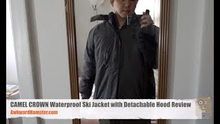 CAMEL CROWN Waterproof Ski Jacket with Detachable Hood Review