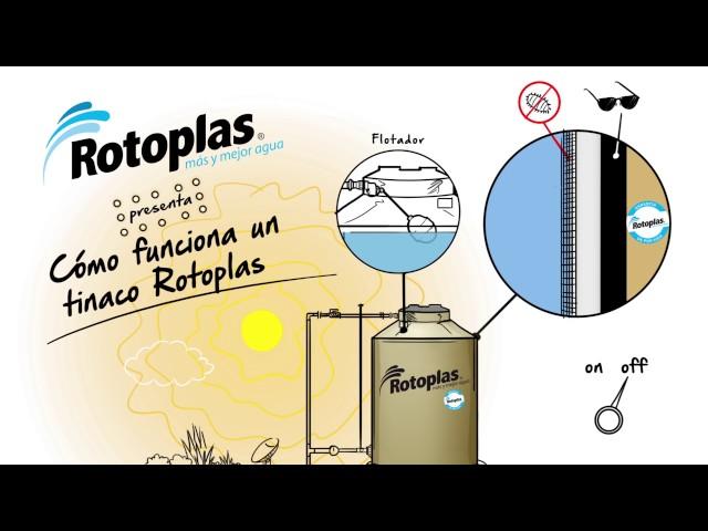 ¿Cómo funciona un tinaco Rotoplas?