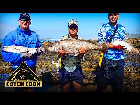 Fishing for Kob / Mulloway using dropshotting technique | Eastern Cape, South Africa