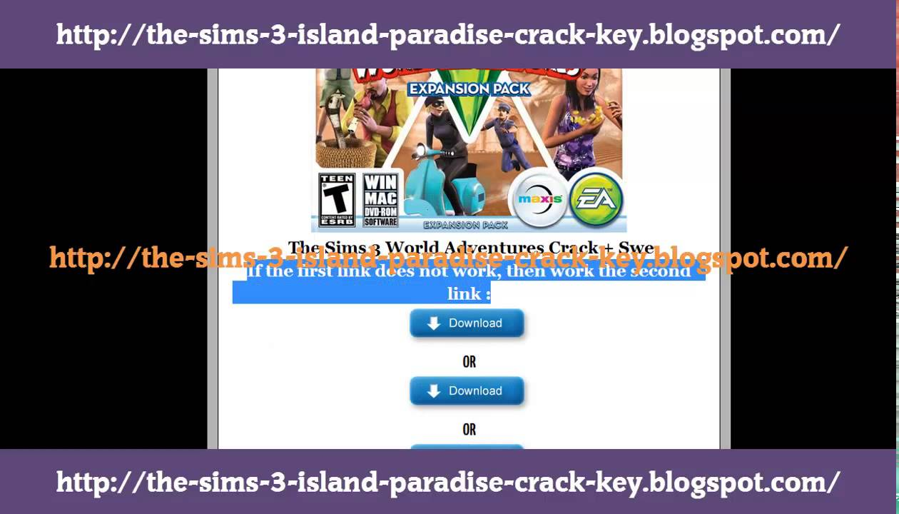 the sims 3 world adventures crack youtube. Black Bedroom Furniture Sets. Home Design Ideas