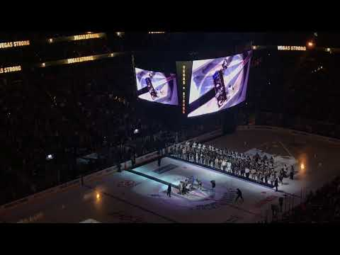 Opening Ceremony to Golden Knights Inaugural Home Game #VegasStrong