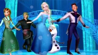 Finger Family Frozen Disney 3D - Elsa Anna Hans Kristoff Olaf Frozen Finger Family