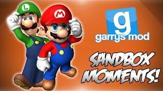 Garrys Mod Sandbox Funny Moments! - Mario Interrogation, Jurassic Park, Hells Swingset, FaZe Ladd
