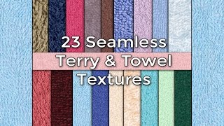 promo hi res seamless towel terry cloth fabric textures pack