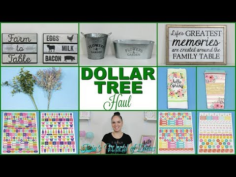 DOLLAR TREE HAUL | FARMHOUSE STYLE ITEMS | NEW FINDS | PLANNER STICKERS
