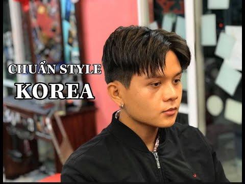 Middle Part - Kiểu tóc Hai Mái Huyền Thoại chuẩn style tóc nam Hàn Quốc