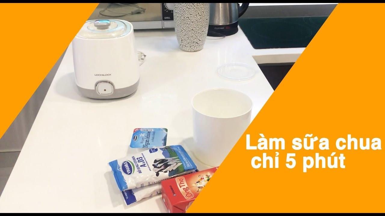 Cách làm sữa chua cực dễ chỉ trong 5 phút | Cách làm sữa chua bằng máy lock&lock