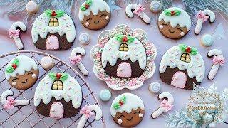How to make Christmas PUDDING COTTAGE & PUDDING GIRL cookies