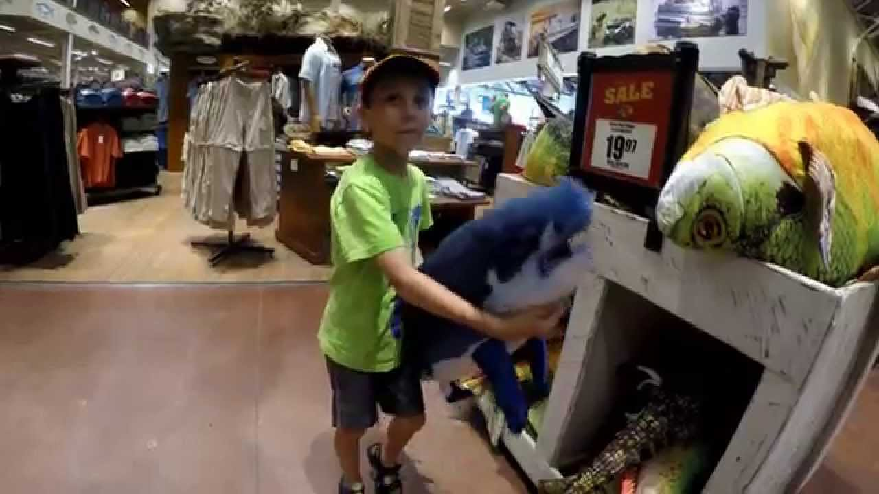 Bass pro shops giant fish pillows youtube for I fish pro