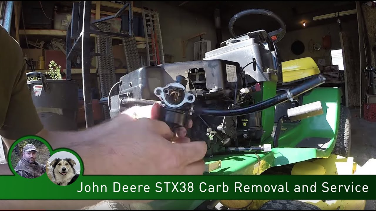 John Deere Stx38 Carb Removal And Service Youtube