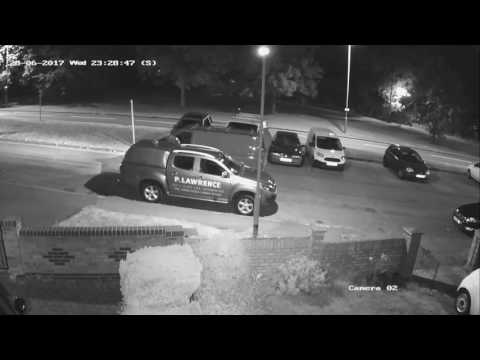 Criminal Damage: Van Theft / Break In (Ford Transit Custom) Neighbour CCTV