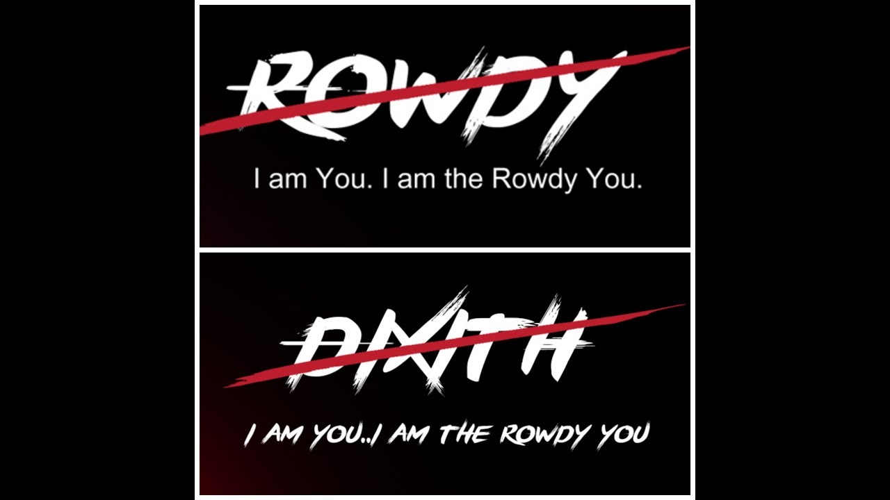 ROWDY font - Link in description | Create your name with Rowdy movie