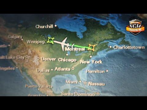 In 7,30 min von Hamburg nach Winnipeg