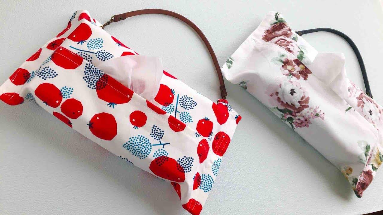 カバー ティッシュ 布 作り方 ボックス ポケットがついて便利!「ティッシュボックスカバー」の作り方